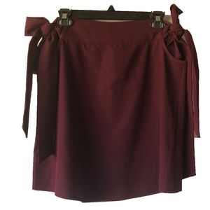 ASOS Burgundy Side Tie Mini Skirt Size 8